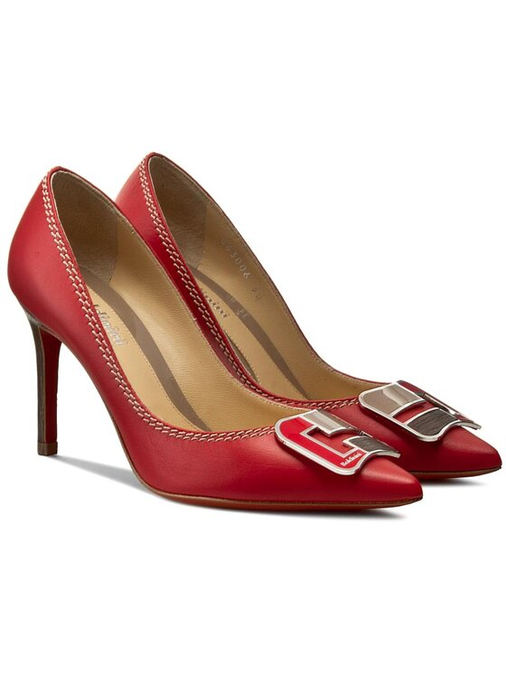 Baldinini Baldinini Pantofi cu toc subțire 663006P91AGARO7005 Roșu