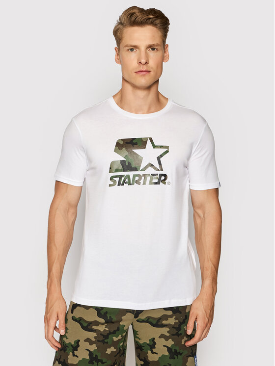 Starter Marškinėliai SMG-009-BD Balta Regular Fit