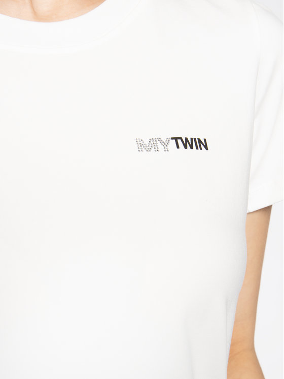 My Twin My Twin T-Shirt 201MP232B Bílá Slim Fit