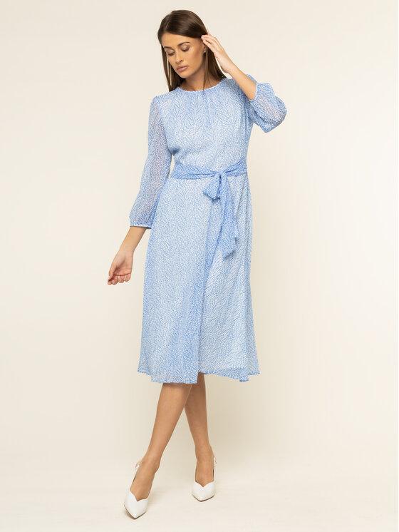 Lauren Ralph Lauren Lauren Ralph Lauren Sukienka codzienna 250783997 Niebieski Regular Fit