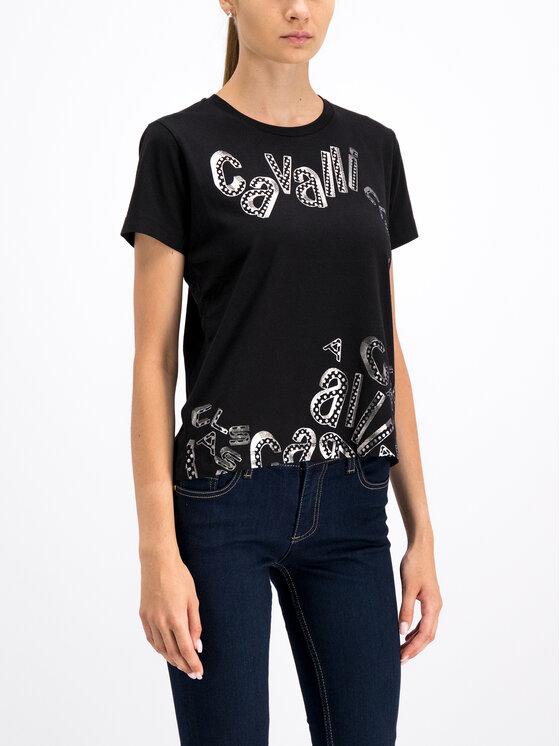 Cavalli Class Cavalli Class T-Shirt B2ITB736 Schwarz Regular Fit