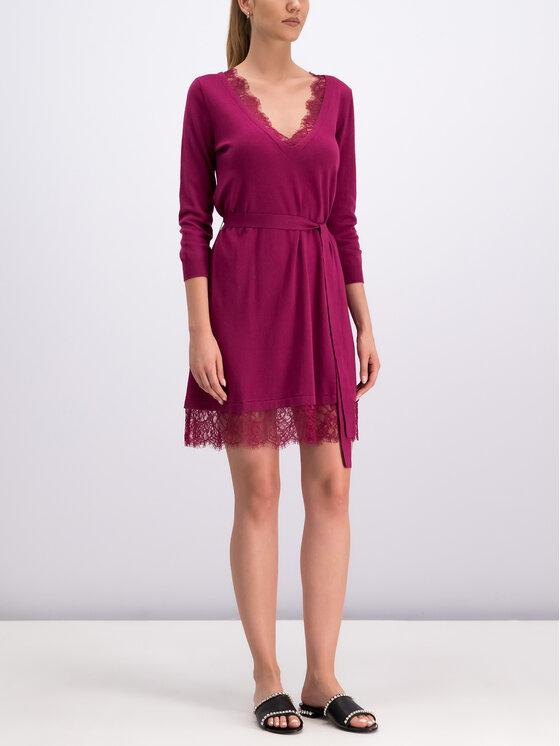TwinSet TwinSet Úpletové šaty 192TP3162 Ružová Regular Fit