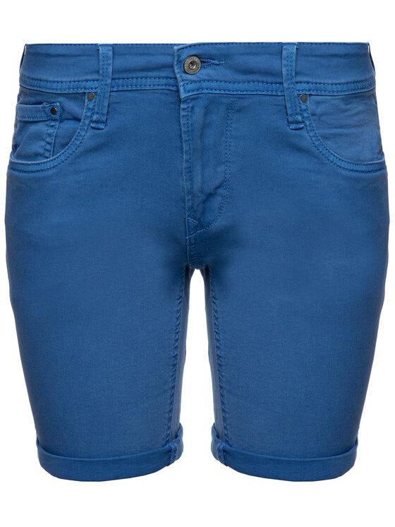 Pepe Jeans Pepe Jeans Džinsiniai šortai Poppy PL800802 Mėlyna Regular Fit