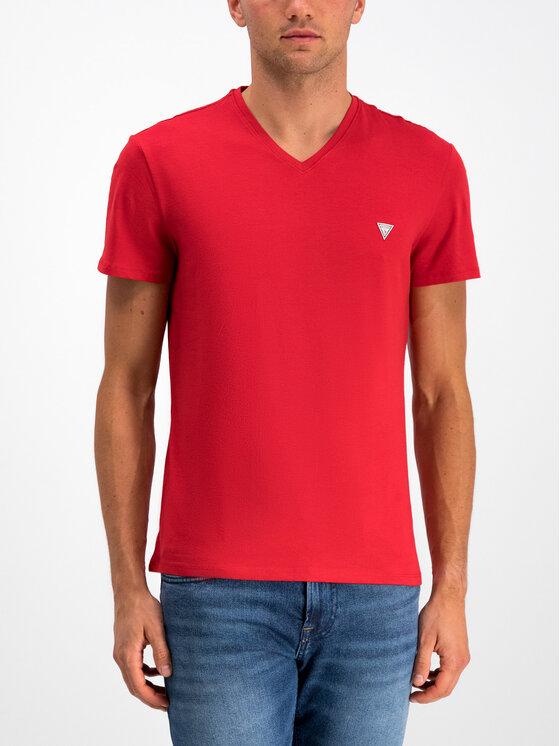Guess Guess T-Shirt M93I52 J1300 Κόκκινο Slim Fit