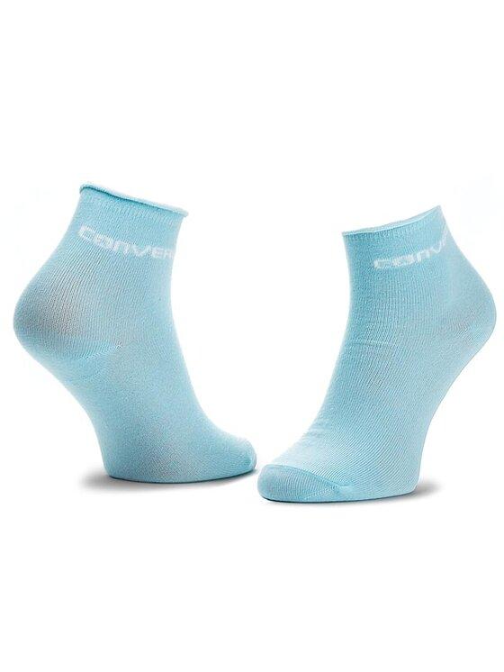 Converse Converse Set de 3 perechi de șosete medii de damă E441A3009 Albastru
