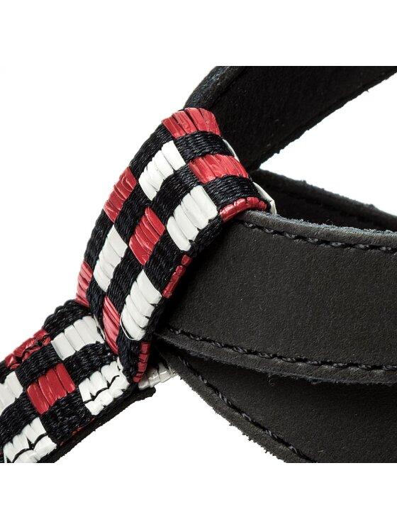 Tommy Jeans Tommy Jeans Flip flop Flat Sandal Gingham Pattern EN0EN00213 Bleumarin