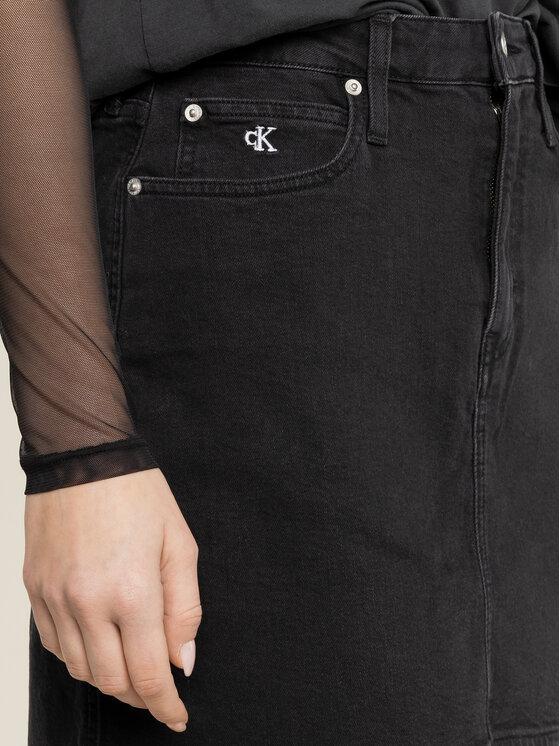 Calvin Klein Jeans Calvin Klein Jeans Džínsová sukňa Archive Icons J20J213165 Čierna Regular Fit
