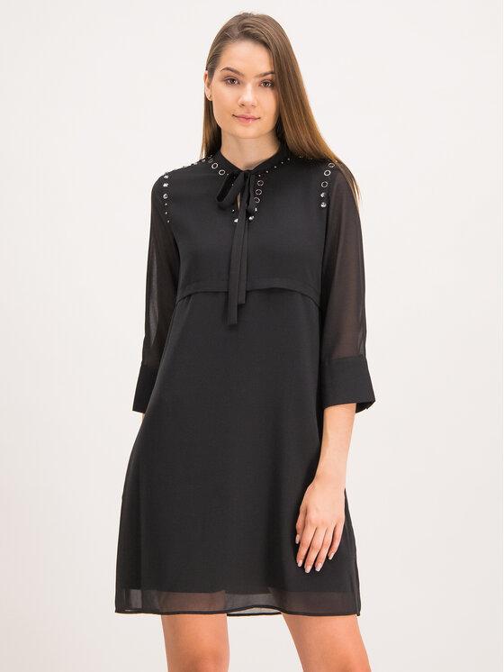 My Twin Sukienka koszulowa 192MP2480 Czarny Regular Fit