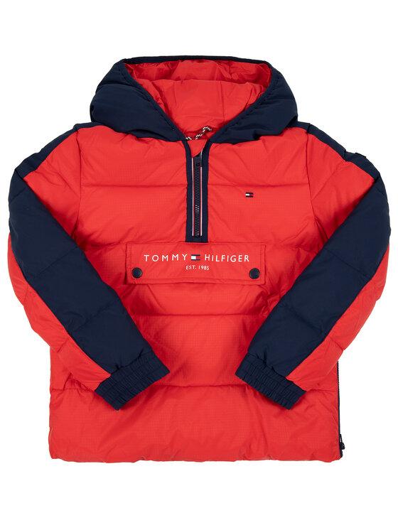 TOMMY HILFIGER TOMMY HILFIGER Μπουφάν χειμωνιάτικο Colorblock KB0KB05139 D Κόκκινο Regular Fit