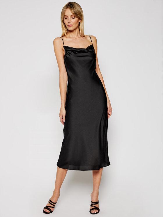 My Twin Kokteilinė suknelė 202MP2371 Juoda Slim Fit