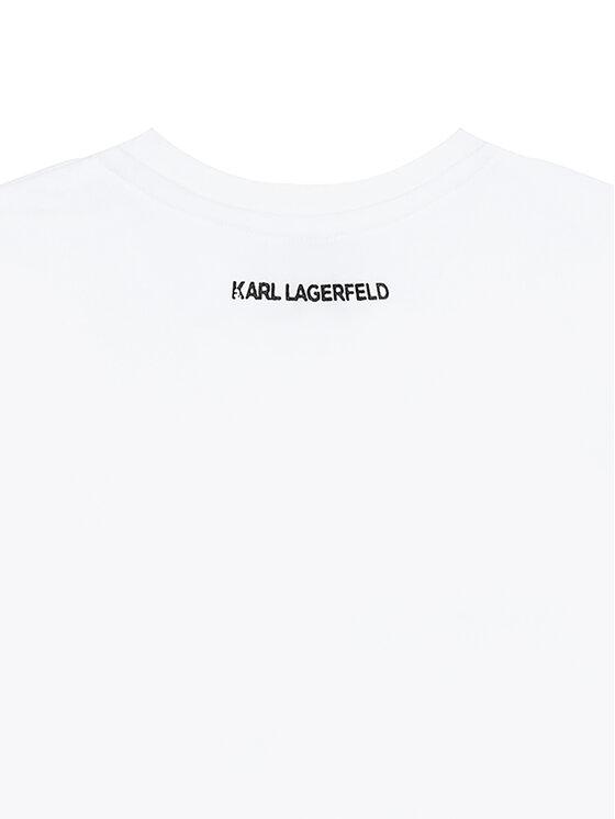 KARL LAGERFELD KARL LAGERFELD Bluzka Z15287 Biały Regular Fit