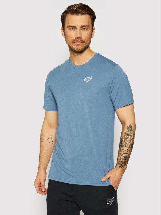 Fox Racing Marškinėliai Burnt 26970 Mėlyna Regular Fit