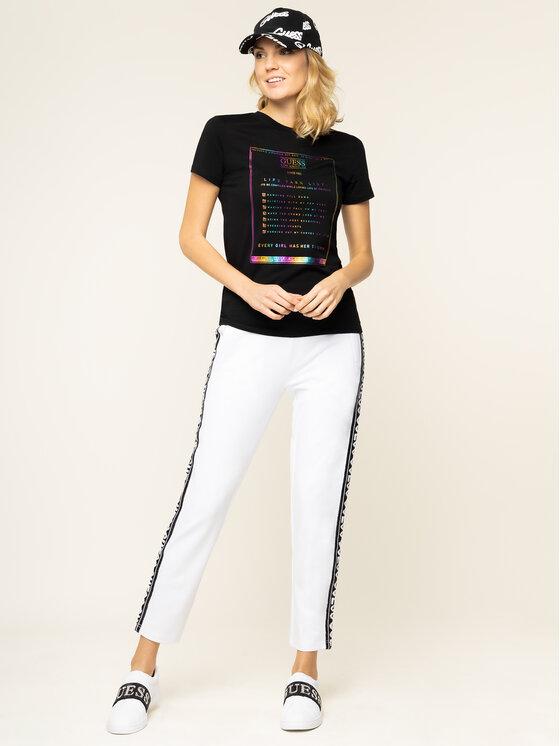 Guess Guess T-shirt Rainbow Tee W01I93 K6MG0 Nero Regular Fit