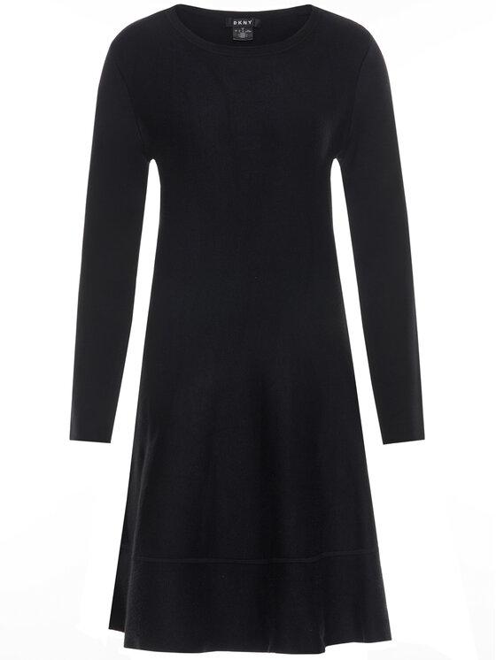 DKNY DKNY Úpletové šaty P9HO8256 Čierna Regular Fit