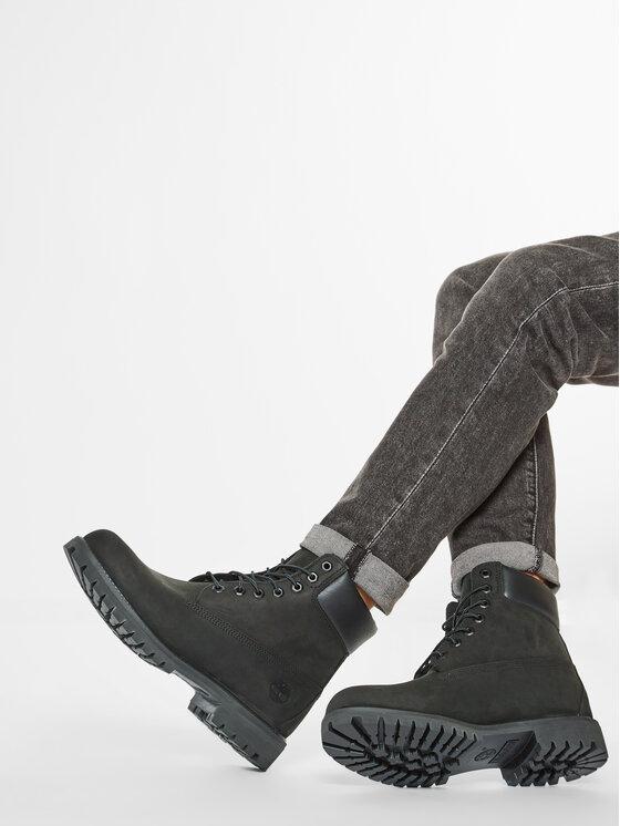 Timberland Timberland Outdoorová obuv Premium 6 Inch Boot 10073/TB0100730011 Čierna