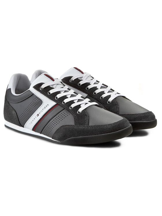 Tommy Hilfiger Tommy Hilfiger Sneakersy Riley 1C FM56818999 Szary