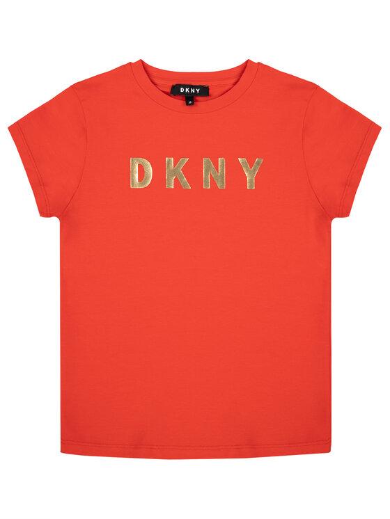 DKNY DKNY Tričko D35Q19 S Červená Regular Fit