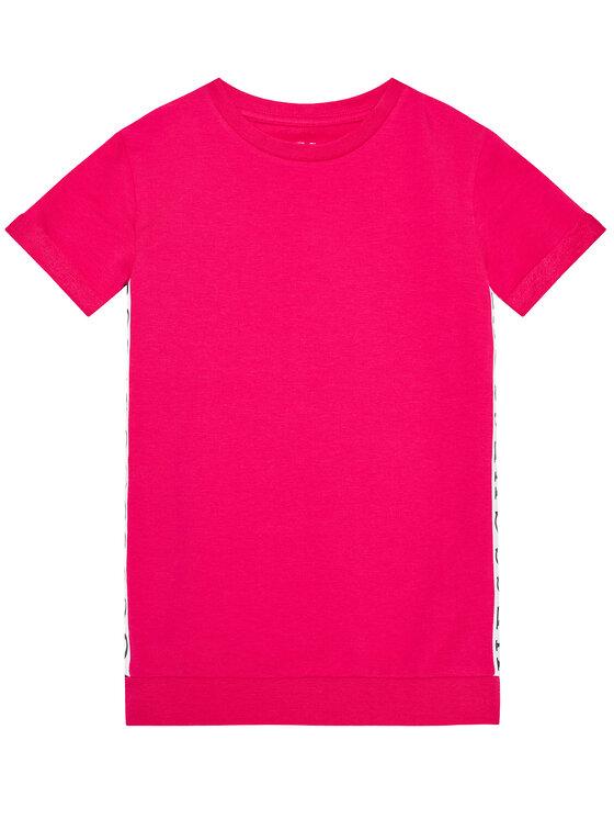 Guess Guess Sukienka codzienna K1RK08 KAE40 Różowy Regular Fit