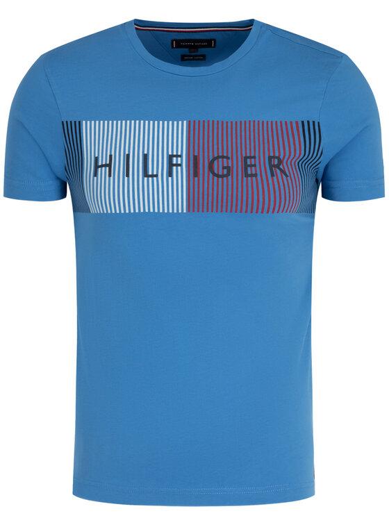 TOMMY HILFIGER TOMMY HILFIGER Marškinėliai Signature Logo MW0MW10829 Mėlyna Regular Fit