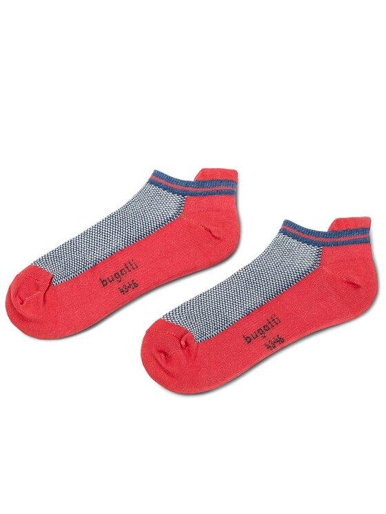 Bugatti Bugatti Unisex trumpų kojinių komplektas (2 poros) 6871 Pilka