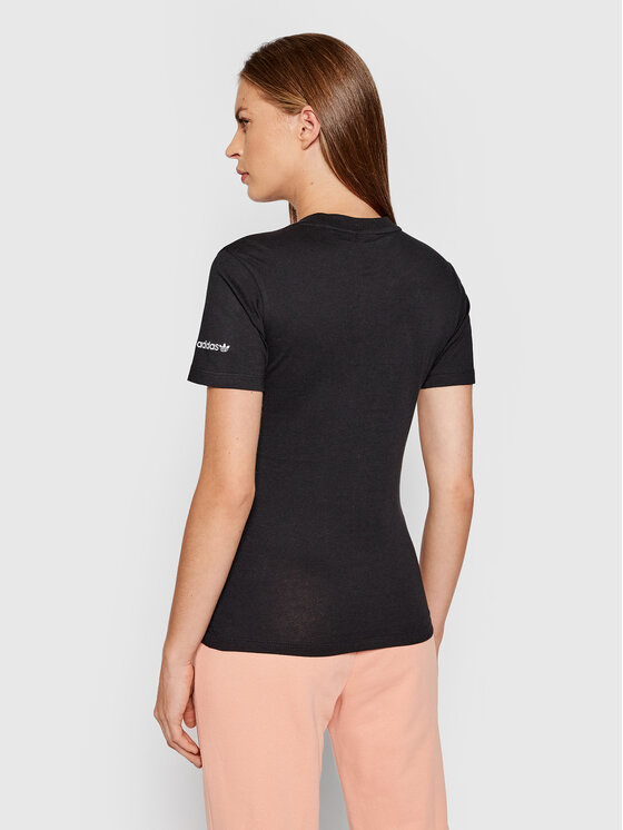 adidas adidas T-shirt adicolor Shattered Trefoil Tee H22859 Crna Regular Fit