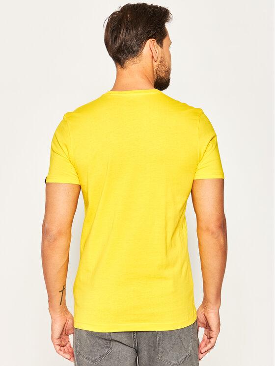 Alpha Industries Alpha Industries T-Shirt Basic T Small Logo 188505 Κίτρινο Regular Fit