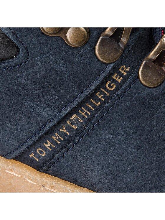 TOMMY HILFIGER TOMMY HILFIGER Обувки Crepe Outsole Hiking FM0FM01676 Тъмносин
