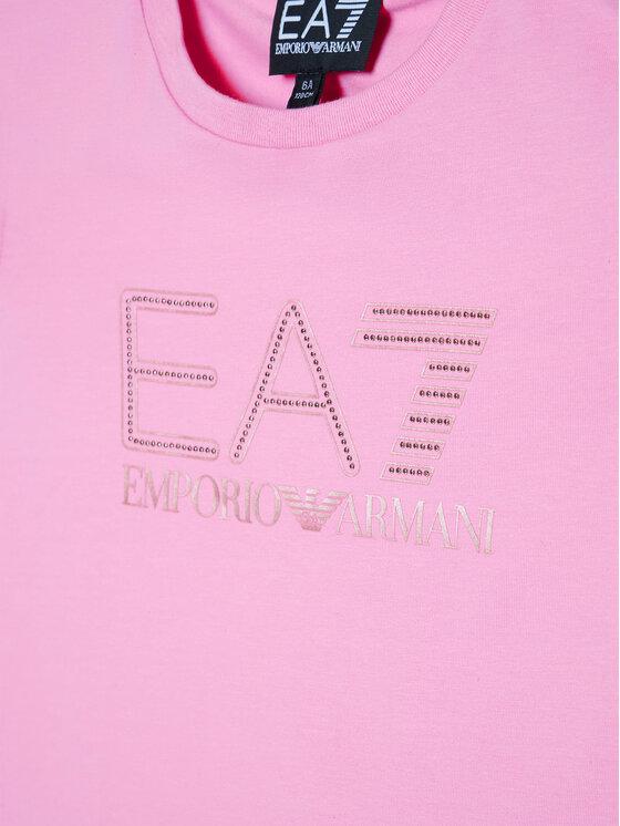 EA7 Emporio Armani EA7 Emporio Armani T-Shirt 6HFT54 FJ5GZ 1404 Różowy Regular Fit
