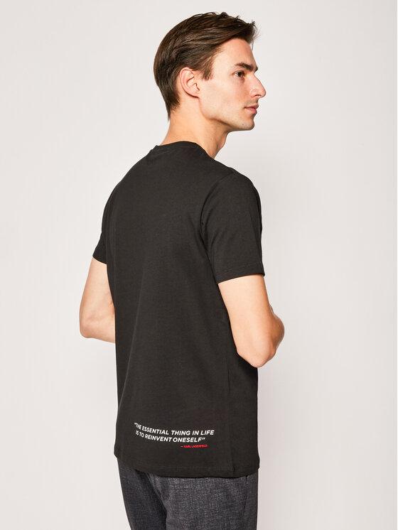KARL LAGERFELD KARL LAGERFELD T-Shirt Crewneck 755092 501224 Černá Regular Fit
