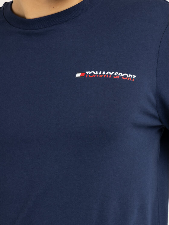 Tommy Sport Tommy Sport S dlhými rukávmi S20S200313 Tmavomodrá Regular Fit