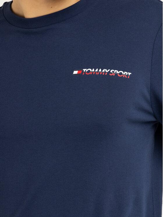 Tommy Sport Tommy Sport Тениска с дълъг ръкав S20S200313 Тъмносин Regular Fit