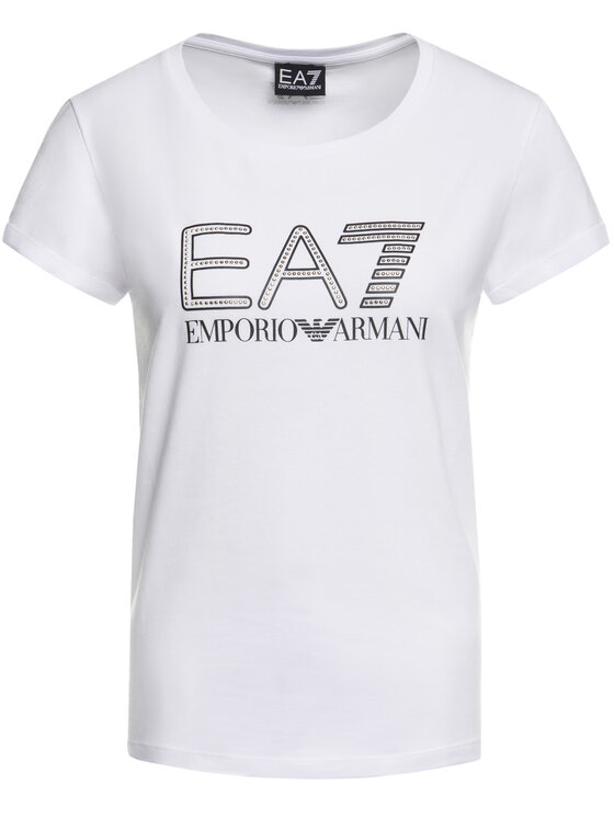 EA7 Emporio Armani EA7 Emporio Armani Póló 3HTT30 TJ12Z 1100 Fehér Regular Fit