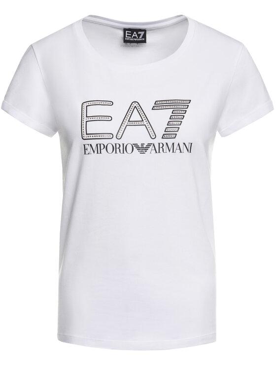 EA7 Emporio Armani EA7 Emporio Armani Tričko 3HTT30 TJ12Z 1100 Biela Regular Fit