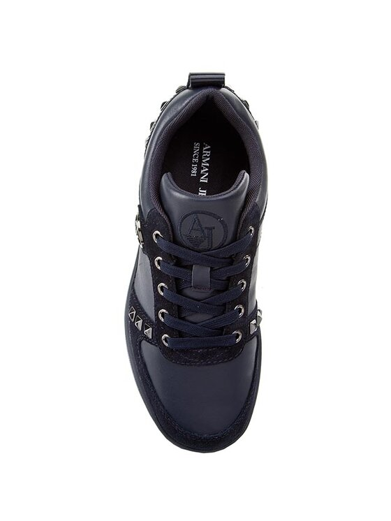 Armani Jeans Armani Jeans Laisvalaikio batai B55F4 56 5X Tamsiai mėlyna
