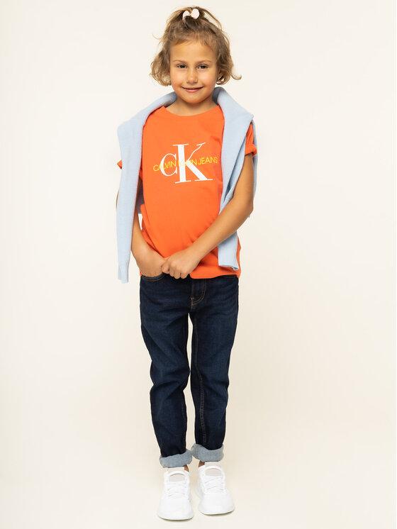 Calvin Klein Jeans Calvin Klein Jeans Póló IG0IG00221 Narancssárga Regular Fit