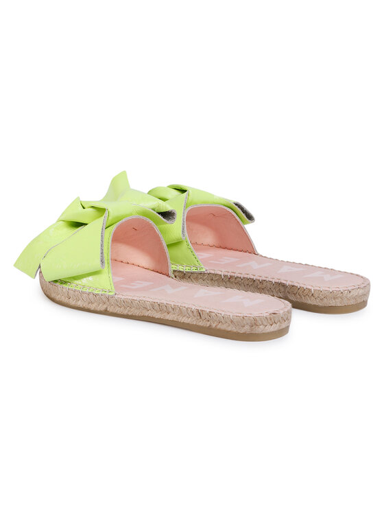 Manebi Manebi Espadryle Sandals With Bow F 9.0 J0 Zielony