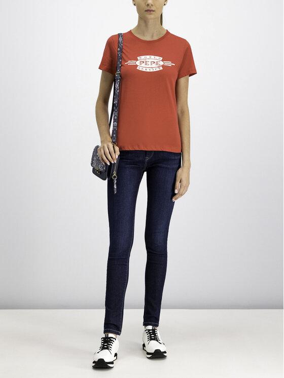 Pepe Jeans Pepe Jeans Tricou Agnes PL504151 Roșu Regular Fit