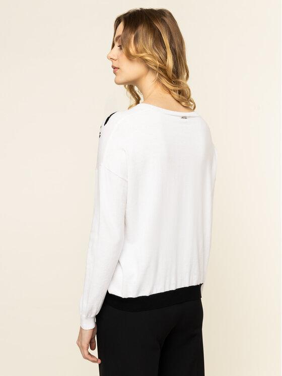 Liu Jo Liu Jo Пуловер MA0081 MA55G Бял Regular Fit