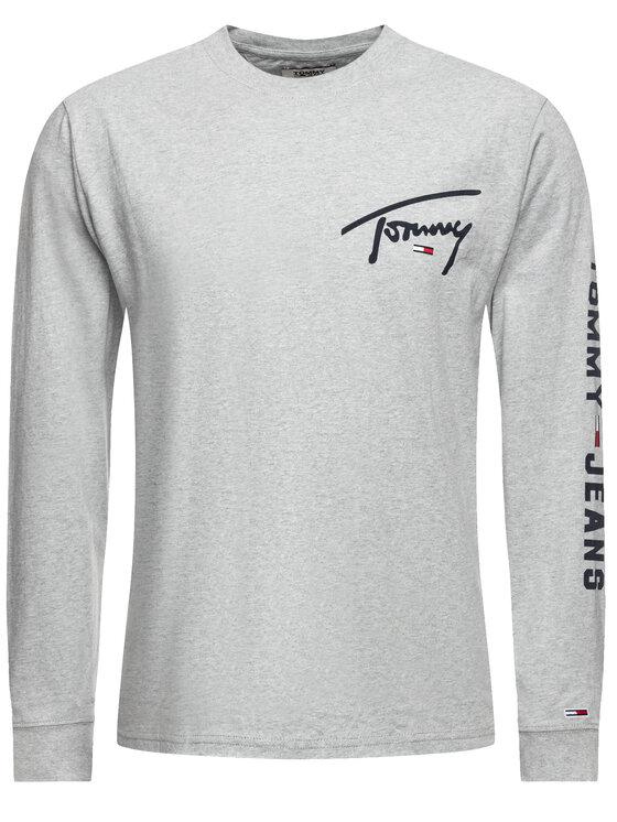 Tommy Jeans Tommy Jeans Longsleeve Tjm Logo DM0DM07015 Grigio Regular Fit