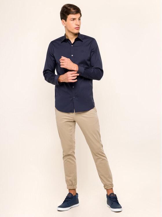Lacoste Lacoste Košile CH5366 Tmavomodrá Slim Fit