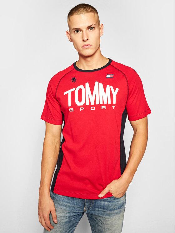 Tommy Sport Marškinėliai Iconic Tee S20S200502 Raudona Regular Fit