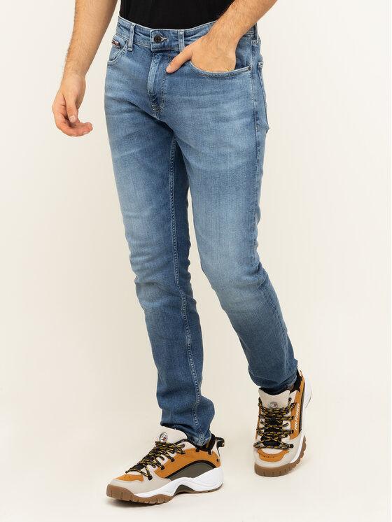 Tommy Jeans Tommy Jeans Džinsai Steve DM0DM07316 Tamsiai mėlyna Slim Fit