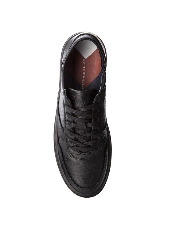 Tommy Hilfiger Tommy Hilfiger Laisvalaikio batai Pebbled Leather Low FM0FM01684 Juoda