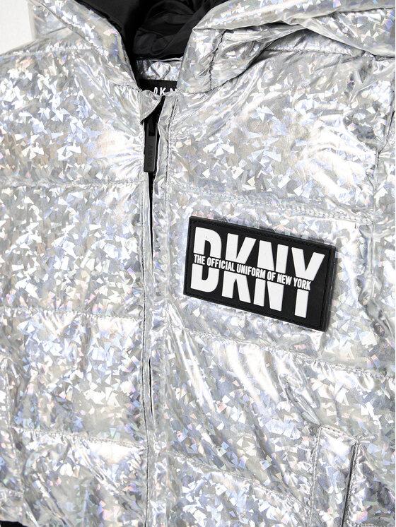 DKNY DKNY Kurtka puchowa D36626 S Srebrny Regular Fit