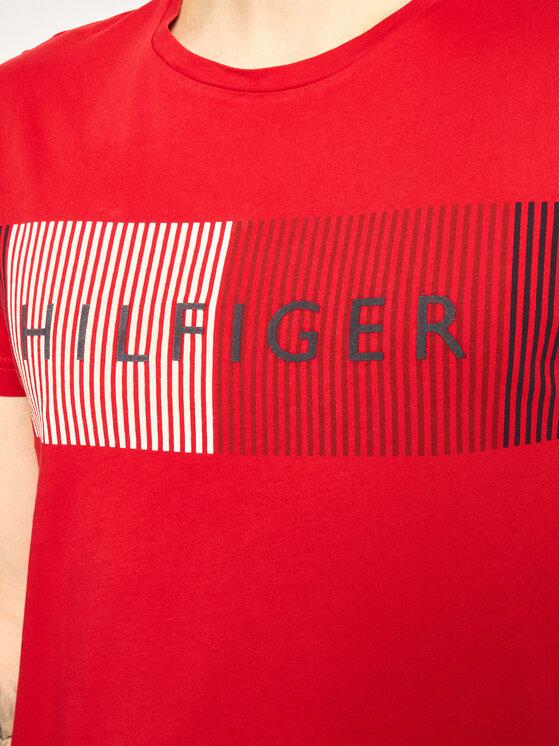 Tommy Hilfiger Tommy Hilfiger Marškinėliai Signature Logo MW0MW10829 Raudona Regular Fit