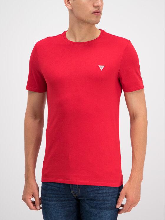 Guess Guess T-Shirt M93I60 I3Z00 Czerwony Slim Fit