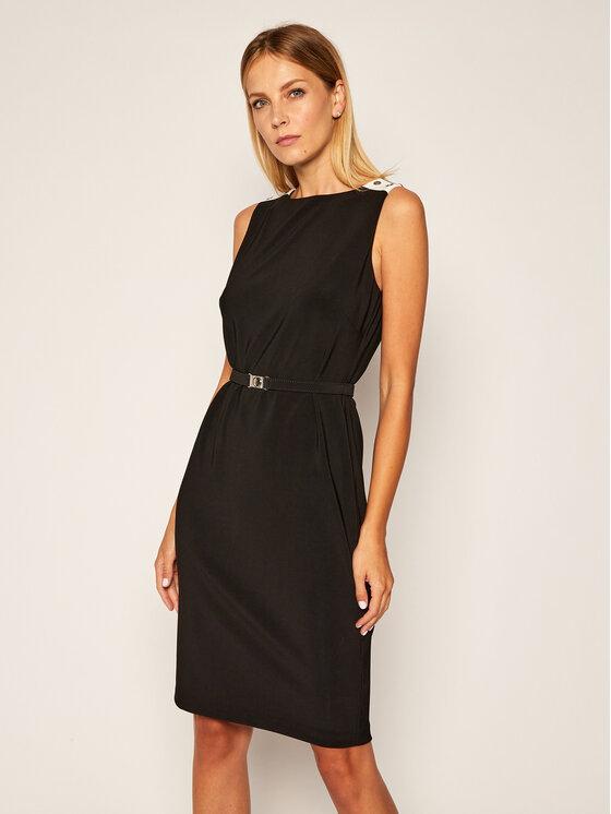 Lauren Ralph Lauren Lauren Ralph Lauren Koktejlové šaty Tone 250792165001 Černá Regular Fit