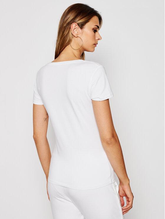 Liu Jo Sport Liu Jo Sport T-Shirt TF0063 J0088 Biały Regular Fit