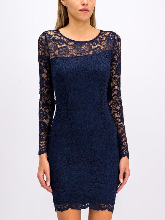 Guess Guess Sukienka koktajlowa W94K0B K96U0 Granatowy Slim Fit