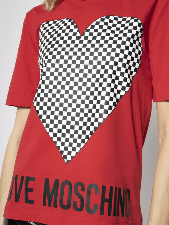 LOVE MOSCHINO LOVE MOSCHINO Tričko W4F152CM 3876 Červená Regular Fit